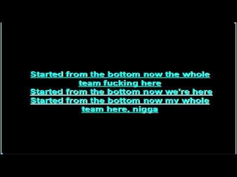 Drake Ft. Wiz Khalifa - Started From The Bottom- lyrics (remix)