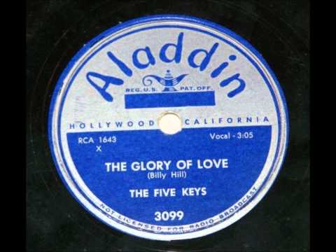 FIVE KEYS - GLORY OF LOVE - ALADDIN 3099 - 1951