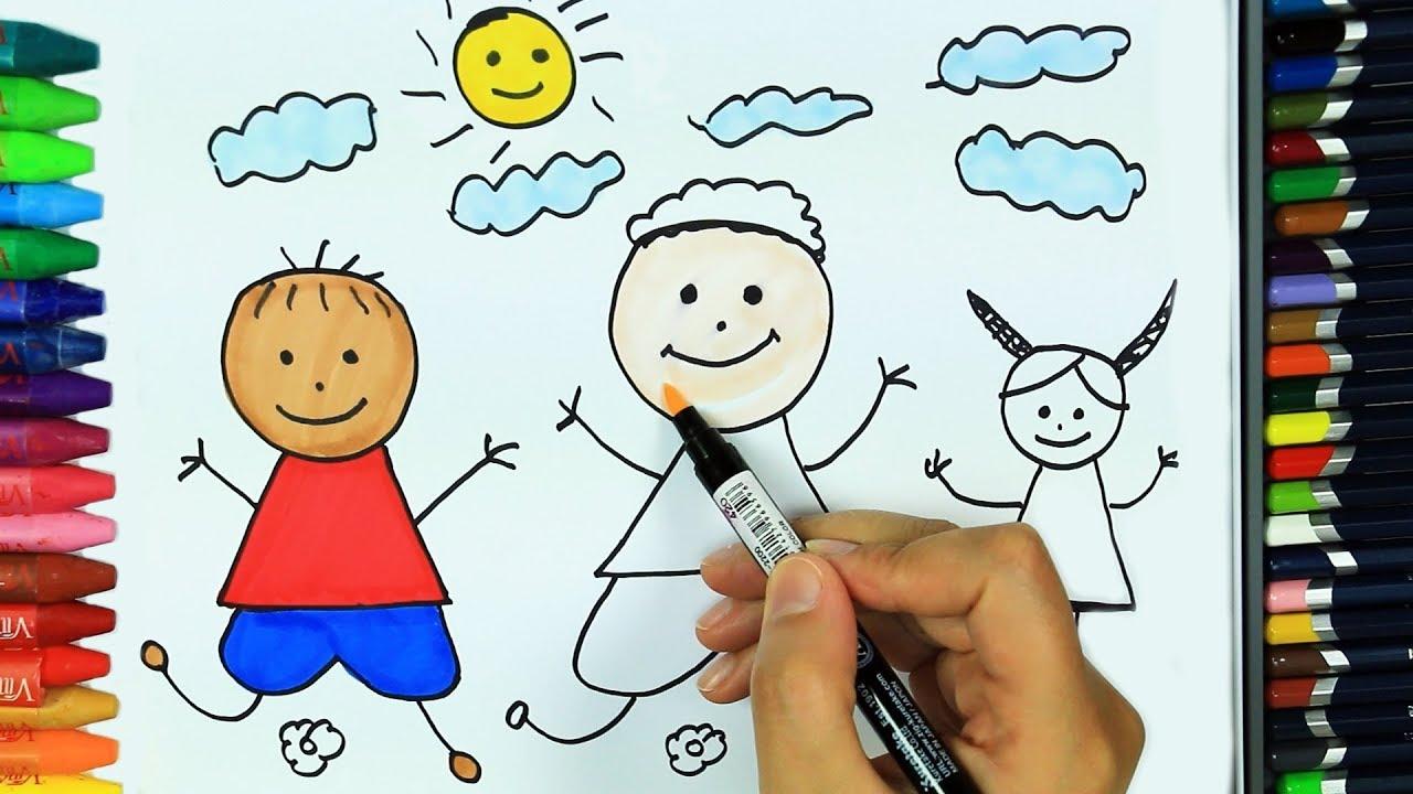 çocuk Nasıl çizilir Hd Boyama Kitabı çocuklar Için Renkler