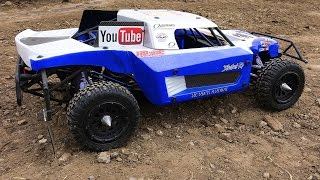 RC ADVENTURES - Disaster, 12s Lipo Electric Losi 5T Breakage & Maiden Run FAiL