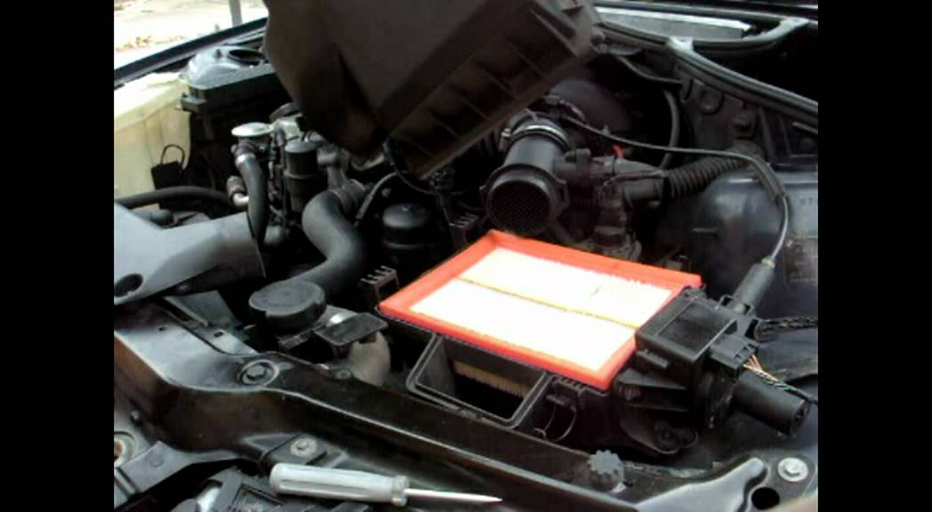 Bmw E46 316i Mass Air Filter Replacement Car Maintence