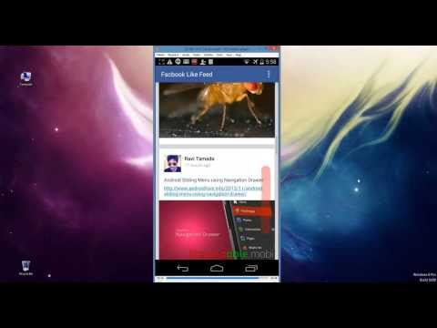 Android Facebook like Custom ListView Feed (Demo)