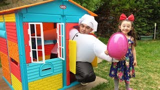 Giant Cook Kid Pretend Play ın Real Life Surprise Egg with Toys