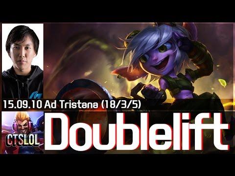 Doublelift leo rank với xạ thủ Tristana vs Vayne