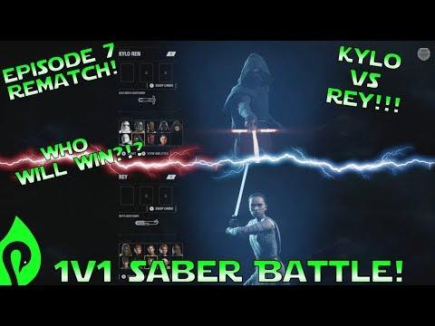 Star Wars Battlefront 2: Kylo Ren Vs Rey In An Epic 1v1 Saber Duel!