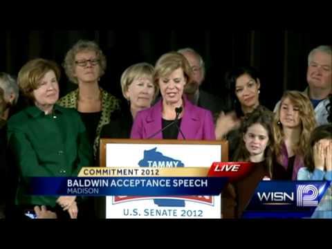 RAW: Tammy Baldwin acceptance speech