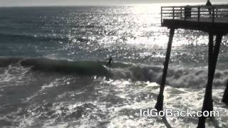 Surfing at Pismo Beach Pier - IdGoBack.com