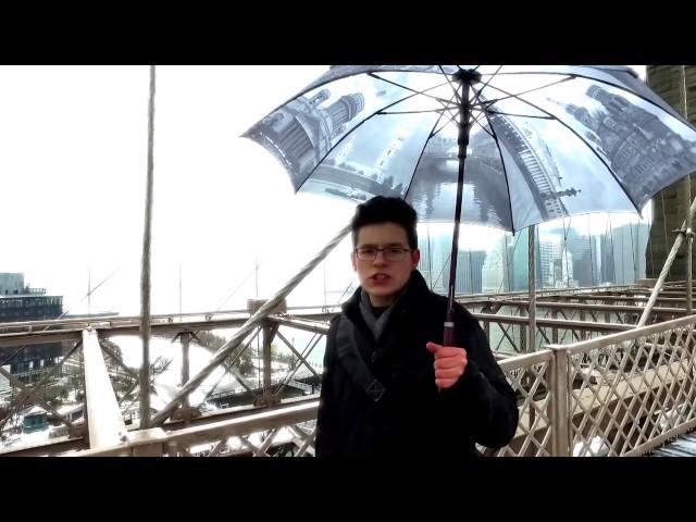Изображение предпросмотра прочтения – ВячеславКазаков читает отрывок изпроизведения «Бруклинский мост» В.В.Маяковского
