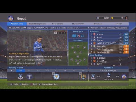 "PES 2016 Master League #11 ""Nepal Vs Crystal Palace"""