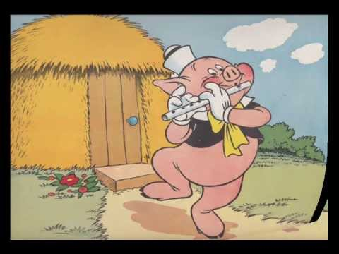 cartoon of pig playing a flute