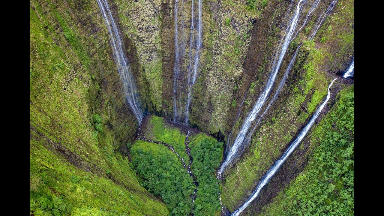 Waimanu Valley Drone / Big Island