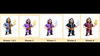 L'EVOLUTION DU SORCIER DE CLASH OF CLANS