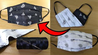 How to Make a Bandana Face Mask Face Mask Sewing Tutorial Hand Sewn Cómo hacer mascarilla