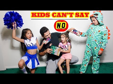 KIDS CANT SAY NO TO PARENTS FOR A DAY | Familia Diamond