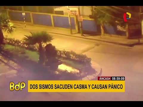 Áncash: dos fuertes sismos se registraron esta madrugada en Casma