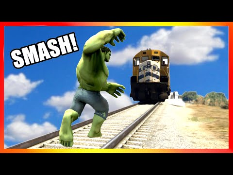 Can HULK STOP THE TRAIN in GTA Games?