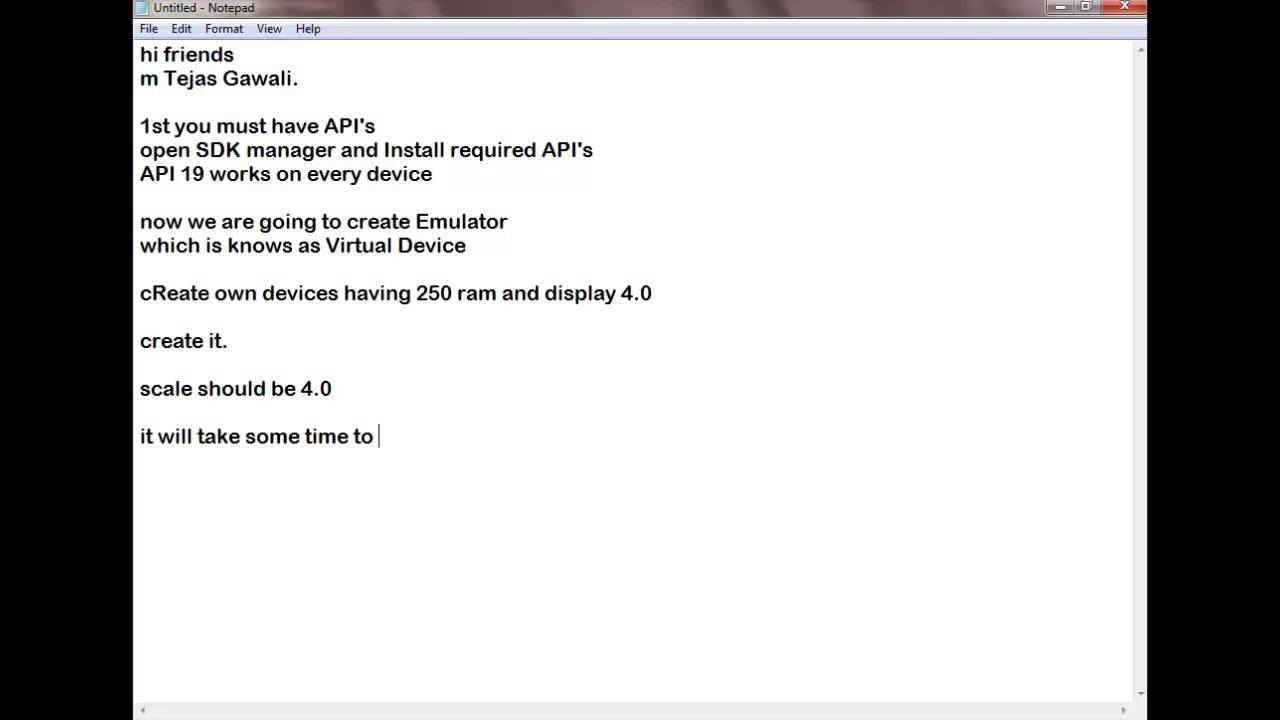 1gb ram android emulator - How To Create Avd Emulator On 1gb Ram Android Hindi Toutorials