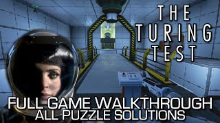The Turing Test - 100% Full Game Walkthrough + All Puzzle Solutions & Achievements! - Speedrun