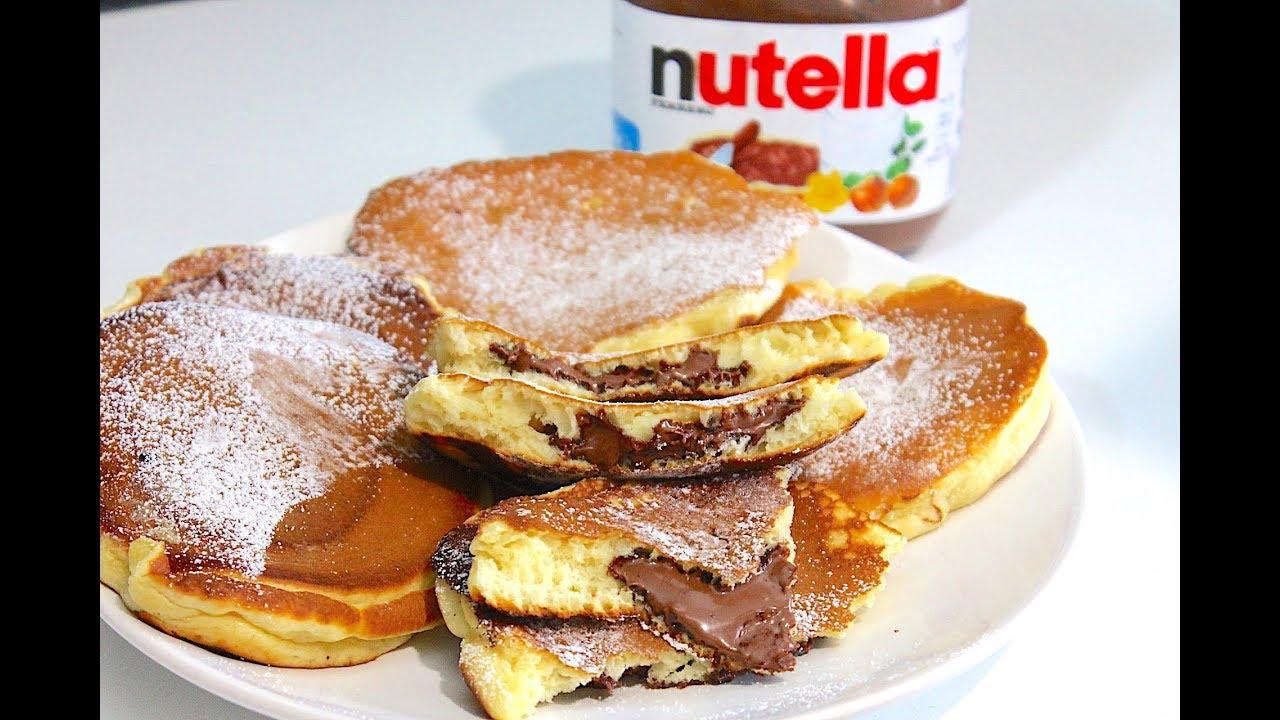 Pancakes Faciles Et Rapides Au Nutella Par Quelle Recette Youtube