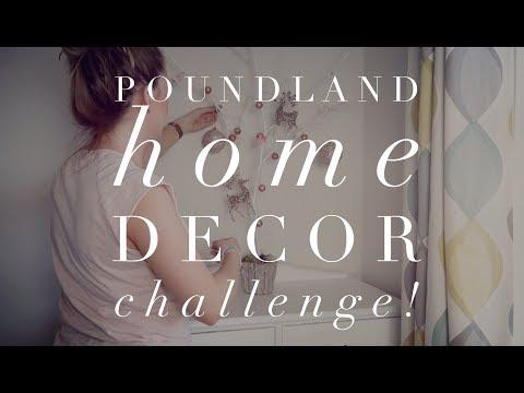 Poundland Haul, £15 Home Decor Challenge. ASMR