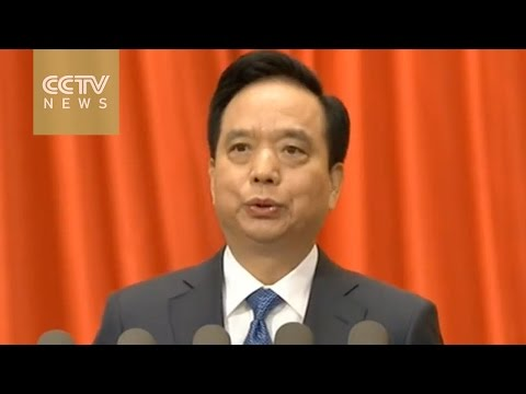 [V观] Li Jianguo speaks to NPC members on draft charity law
