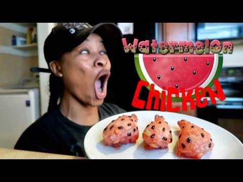 diy watermelon chicken youtube