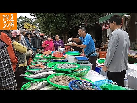 台灣魚販叫賣哥 | Taiwan Street Fishmonger Auction Cutting Fish【阿曼在散步】
