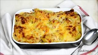 Patatas gratinadas con bechamel .Super fáciles ¡Y para chuparse los dedos!