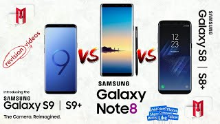 Samsung S8+ vs Samsung S9 vs Samsung S9 Plus vs Samsung Note 8