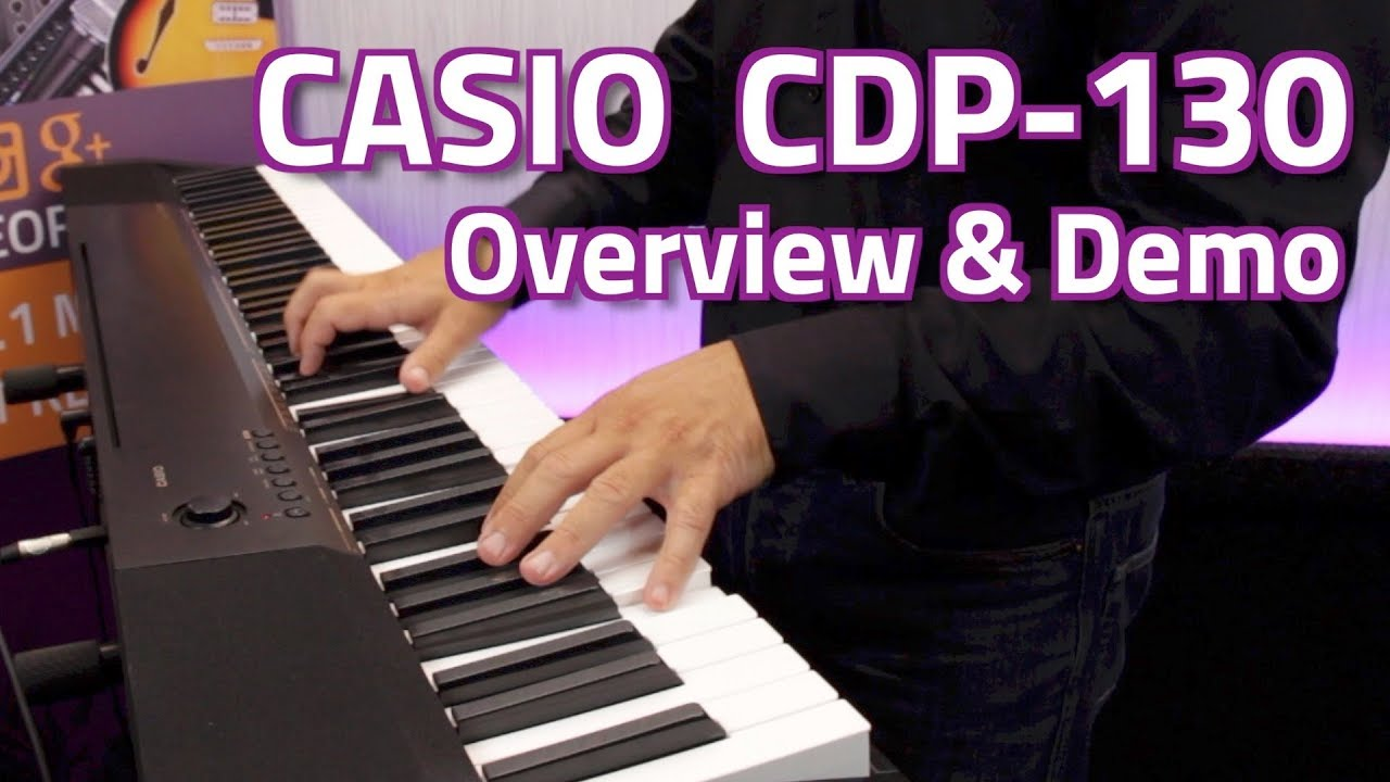 casio cdp 130 digital piano overview demo youtube. Black Bedroom Furniture Sets. Home Design Ideas