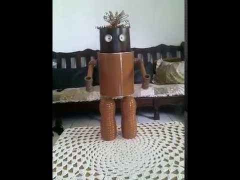 Como Fazer O Robo De Materiais Recicláveis Youtube
