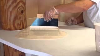 Application résine époxy sur comptoir