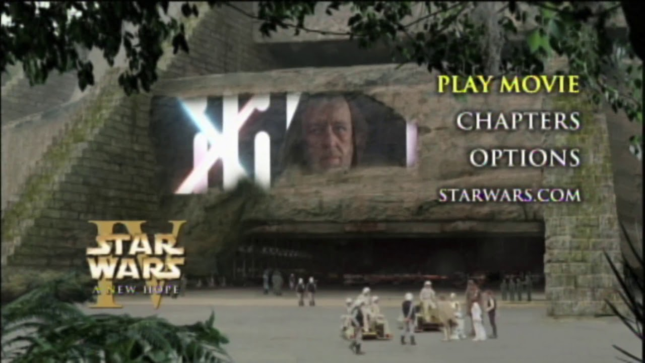 Star Wars Episode Iv A New Hope Dvd Menu 3 Youtube