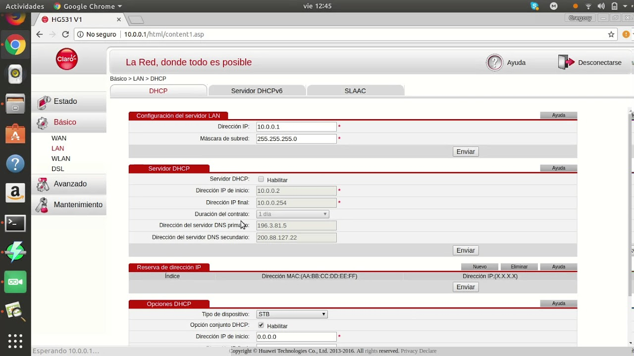 Configuracion Router UNE - cinemapichollu