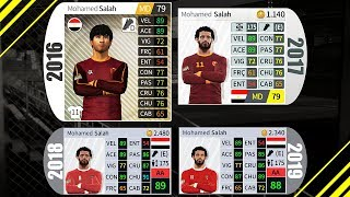 Evolution of player overall in Dream League Soccer (16 to 19)