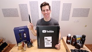 100K Subscribers Giveaway | Silver Play Button Unboxing