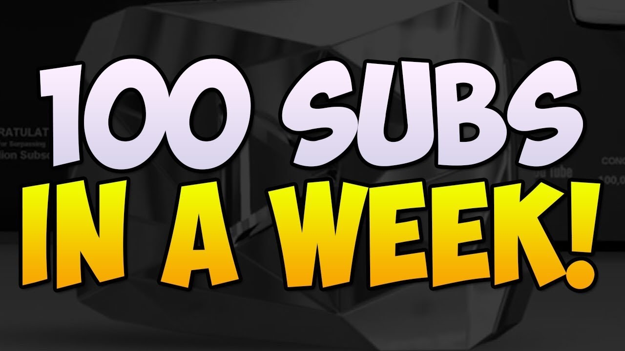 How To Get 100 Subscribers In A Week