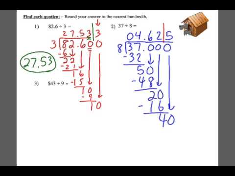 Rounding Quotients To The Nearest Hundredth
