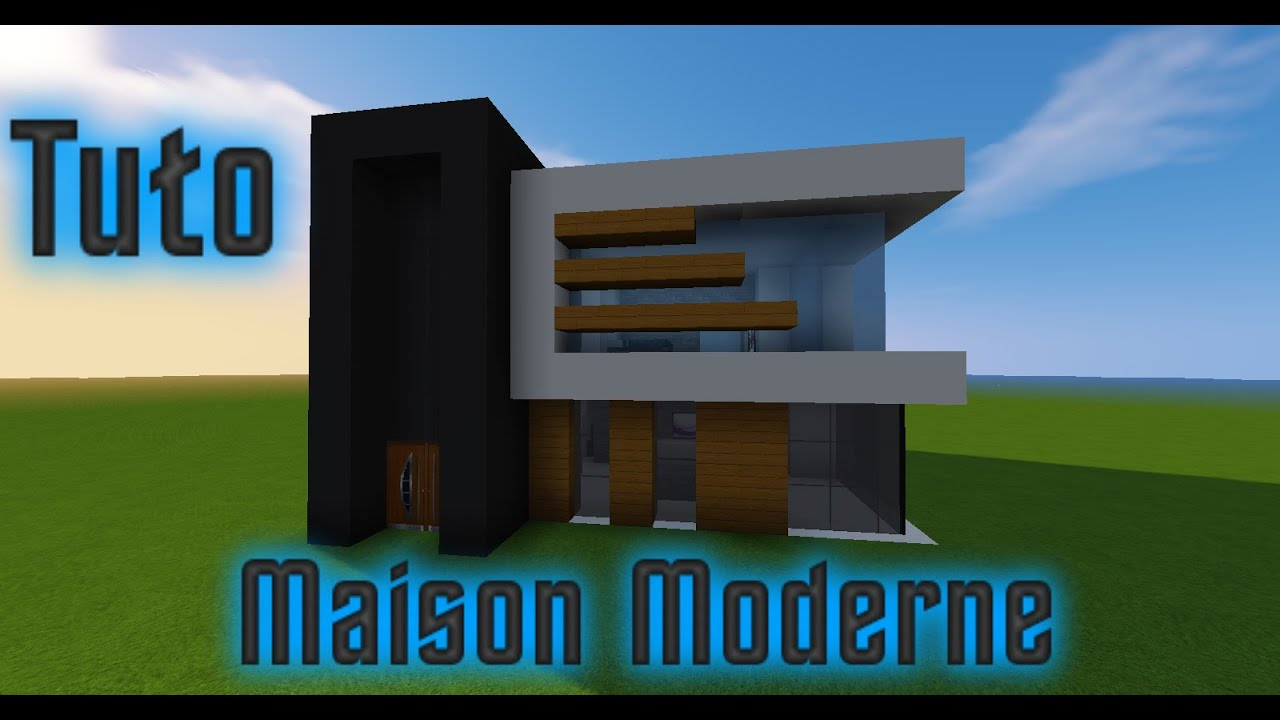 minecraft tuto maison moderne fr youtube