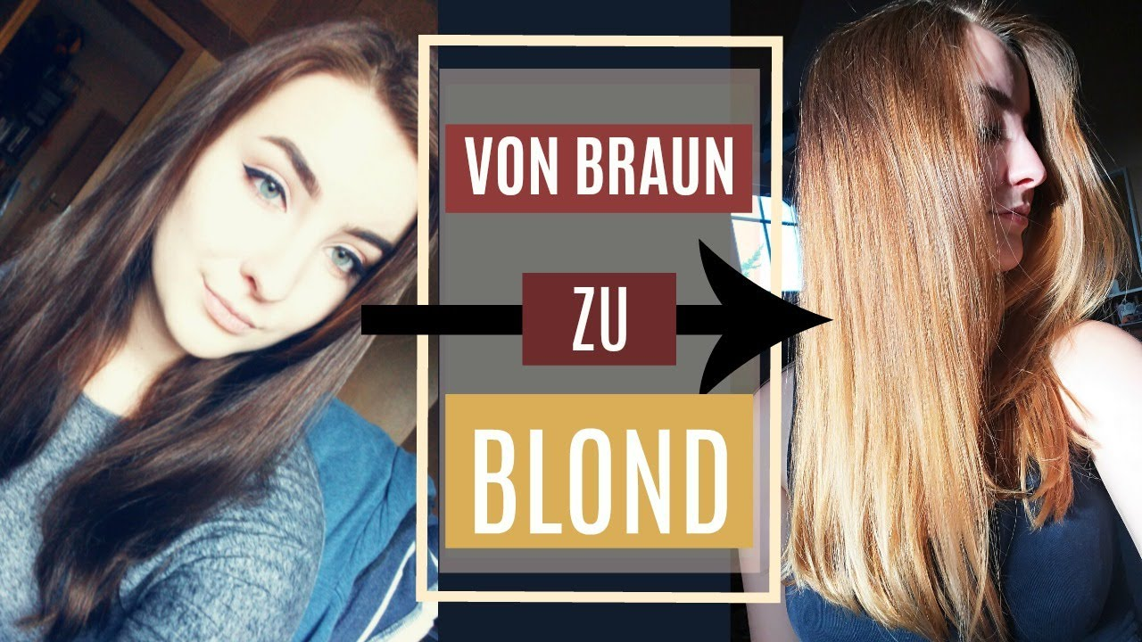 Auf haare blond färben von braun Haare färben