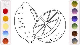 رسم وتلوين ليمون للاطفال/ لعب ومرح للاطفال/ drawing@ coloring fun lemon for kids