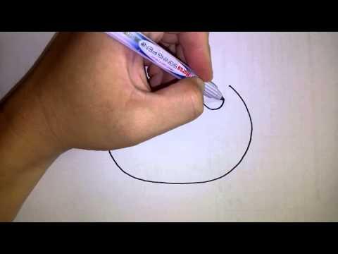 สอนวาดรูป การ์ตูน คิตตี้ Hello Kitty ส่วนหัว