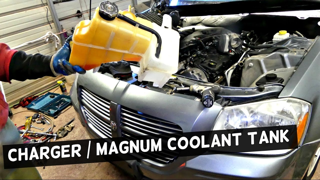 hight resolution of dodge charger coolant reservoir tank removal replacement dodge magnum