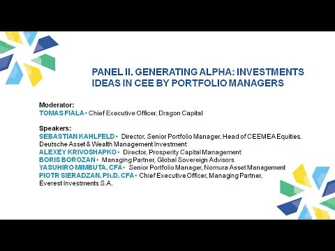 Panel II. IV CEE Investment Conference