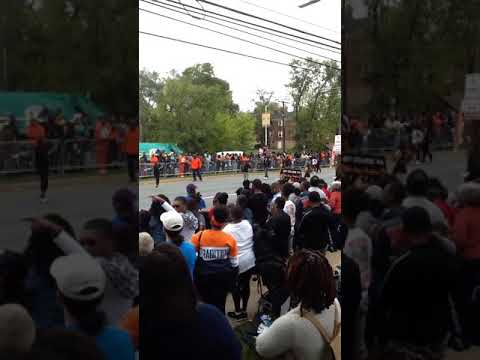 2017 Morgan homecoming parade Baltimore city college high school