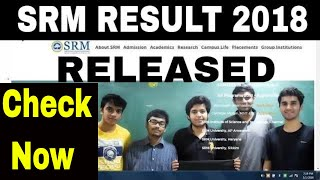 How to check SRM JEEE BTech 2018 Result   SRM JEEE BTech 2018   srm results