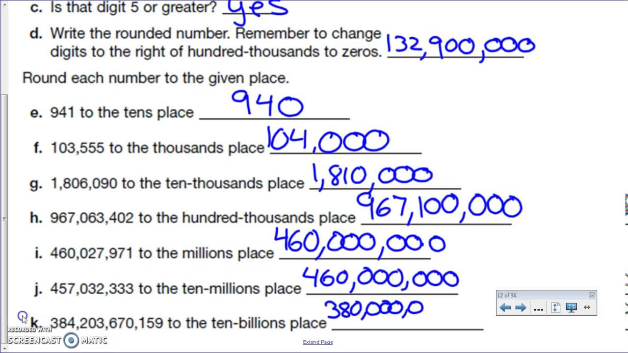 Rounding Large Numbers Comparing And Ordering Large