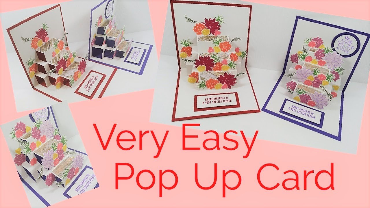 Easy pop up card video tutorial youtube easy pop up card video tutorial kristyandbryce Images