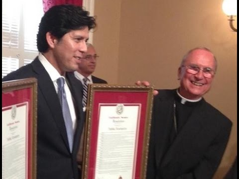 TOP CALIFORNIA POLITICIAN BEHIND GAS KILLING BILL SAYS POPE FRANCIS IS HIS REASON FOR ACTION.