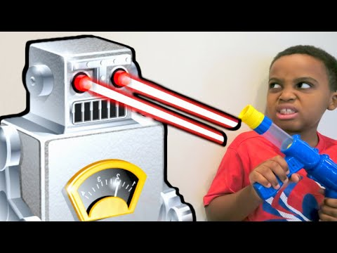 Thumbnail: Bad Baby Evil Robot ATTACKS! - Escape The House Stalker - Shiloh And Shasha - Onyx Kids